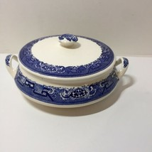"Covered Vegetable Dish Bowl Blue Willow S130 6.75"" - $24.18"