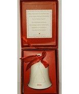 Hallmark Keepsakes Ornament Porcelain Dated Bell 2008 With Box Christmas... - $14.27