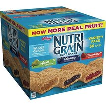 Nutri-Grain-Kellogg's Cereal Bars Variety Pack, 1.3 oz, 2Pack (36-Count Each) DS - $37.11