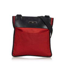 Pre-Loved Gucci Red Nylon Fabric Crossbody Bag Italy - $330.99