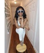New Black Label Juicy Couture Cream Color Swarovski Crystal Velor Jumpsu... - $9,999.99