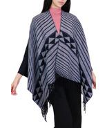 7 Seas Republic Women's Black Fringe Fashion Poncho Shawl Wrap - $26.99