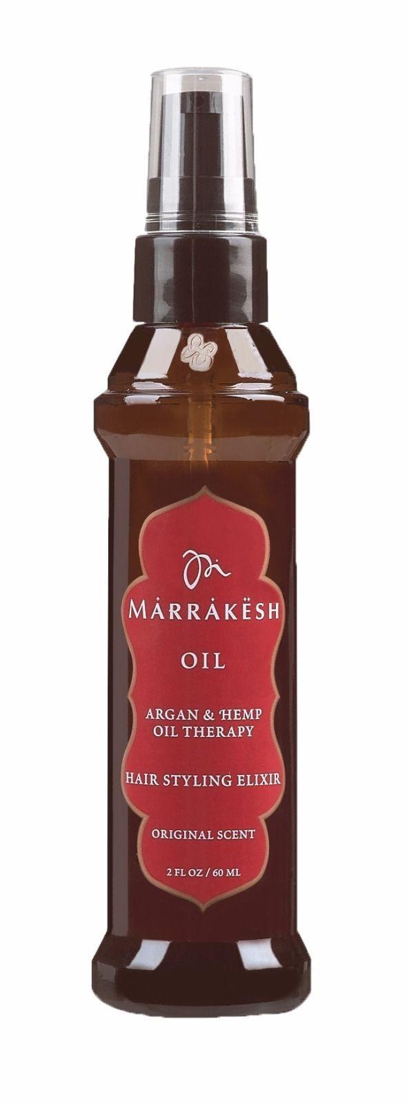 Marrakesh Oil Argan & Hemp Oil Therapy Hair Styling Elixir Original Scent 2oz