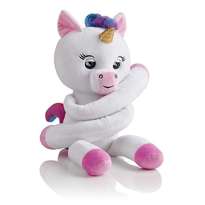 Fingerlings HUGS Gigi (White) Advanced Interactive Plush Baby Unicorn Pet WowWee