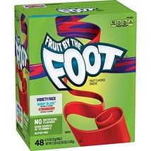Fruit by the Foot, Variety Pack (0.75 oz, 48 pk.) Berry Tie-Dye, Strawberry - $29.70