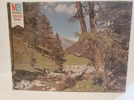 Vintage 1977 Milton Bradley 1500 York Jigsaw Puzzle 8 WOODLAND SERENITY - $37.39
