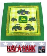 USA MADE Hav-A-Hank Nothing Runs Like A John Deere Bandana Head Wrap Fac... - $12.99