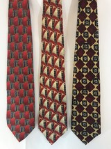 Mens Robert Talbott Lot Of Three 3 Ties Silk Tie Made in the USA - $25.73