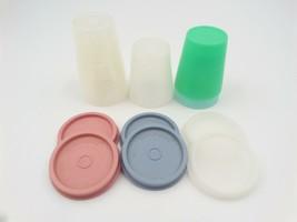 Tupperware 101 Midgets Containers Pastel Sheer Lids Seals Lot Mauve Blue... - $15.99