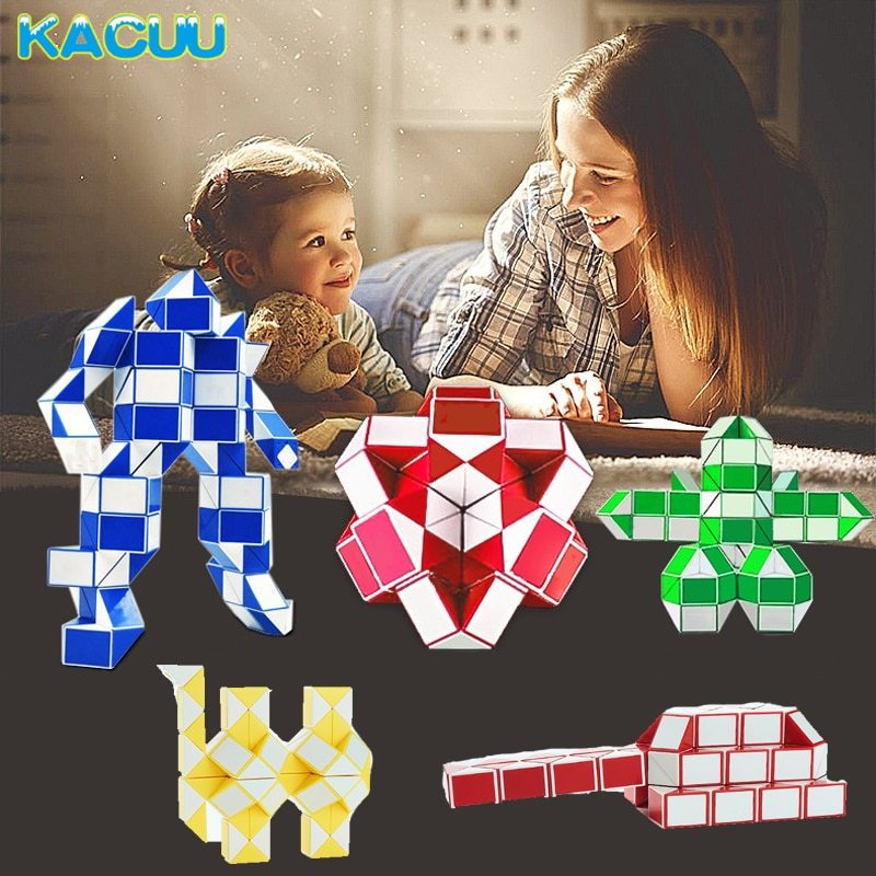 2018 New Magic Ruler Snake Kids Educational Toys Puzzles & Magic Cubes Segment D