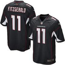 Larry Fitzgerald 2017 Arizona Cardinals Black Game Men Jersey - $59.99