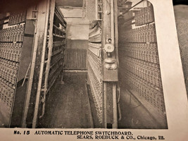 Vintage Stereoscope Card Sears & Roebuck #18 Automatic Telephone Switchb... - $4.89