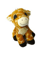 Aurora Giraffe Dreamy Eyes Stuffed Animal Plush Toy 9 inch Tan Brown  - $9.88