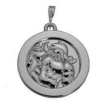 Sterling Silver King Koopa Bowser charm Solid Coin Jewelry Super Mario odyssey - $64.34