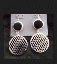 beautiful dangling silver plated pierced earrings  - $19.99