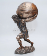 Atlas Greek God with casket Holds Heavens Statue * * * Free Shipping Eve... - $117.81