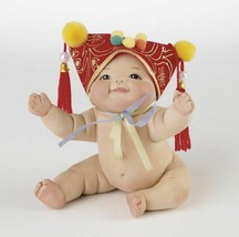 """Marie Osmond Porcelain 3"""" Baby Doll - Roly Poly - """"Bare Bottoms"""" Hand Nu... - $34.65"""