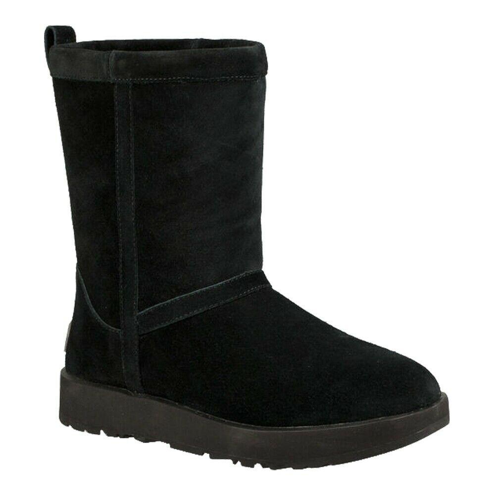 UGG Women Winter Booties Classic Short Waterproof Size US 5.5 Black Suede - $66.56