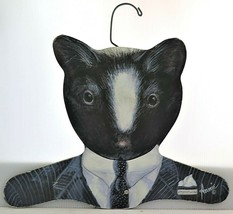 Vintage Attorney At Law Wood Hanger Annie Art Stupell Badger Skunk - $14.25