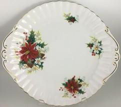 Royal Albert Poinsettia Handled cake plate - $20.00
