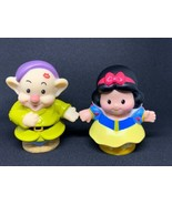 Fisher Price Little People Magic of Disney Snow White and Dopey Kiss Pre... - $9.89
