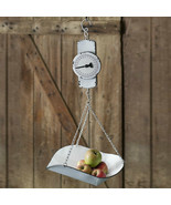 Country new Hanging decorative Produce SCALE in White Tin - $48.00