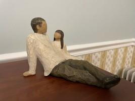 Demdaco Willow Tree Father And Daughter Figurine 2000 Susan Lordi - $34.65