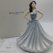 Royal Doulton Christine Pretty Donna Figurina Mint Box Certificato Grigio - $92.19