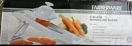 FARBERWARE Professional V-Blade Mandoline Slicer Set, Foldable for Easy ... - $19.79