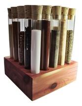 Test Tube Spice Rack, Eastern Red Cedar Spice R... - $55.00