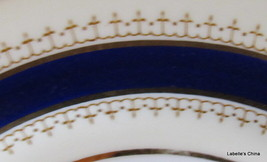 "Aynsley England Pentland 8"" Salad Plate Fine English Bone China Cobalt and Gold image 1"