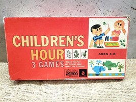 Parker Brothers Children's Hour 3 Games in One Board Game circa 1961 - $33.75