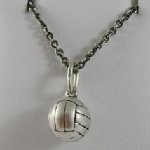 Silberkette 925 Brüniert Anhänger A Ball von Volleyball Made in Italien image 1