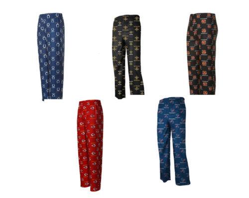 NFL Boy's 4-7 Pajama Pants All-Over Print Sleep Pant Bottoms Football Licensed