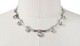 Trifari Silver Tone Dainty Simulated Crystal Collar Necklace - $19.99
