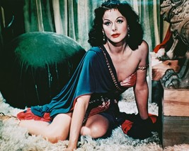Hedy Lamarr Cleavage Pose Sitting on Rug Samson and Delilah 16x20 Canvas Giclee - $69.99