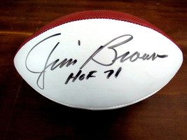 JIM BROWN HOF 71 CLEVELAND BROWNS SIGNED AUTO THE DUKE WILSON FOOTBALL J... - $247.49
