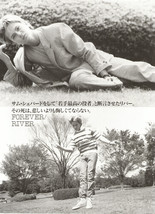 River Phoenix teen magazine pinup clipping laying in the grass two pictures