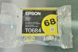 Epson 68 T068420 yellow ink NX510 NX515 Workforce 40 1100 CX8400 CX9400 ... - $19.75