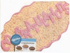 Wilton Congratulations Cake Pan (2105-3523, 1986) - $9.89