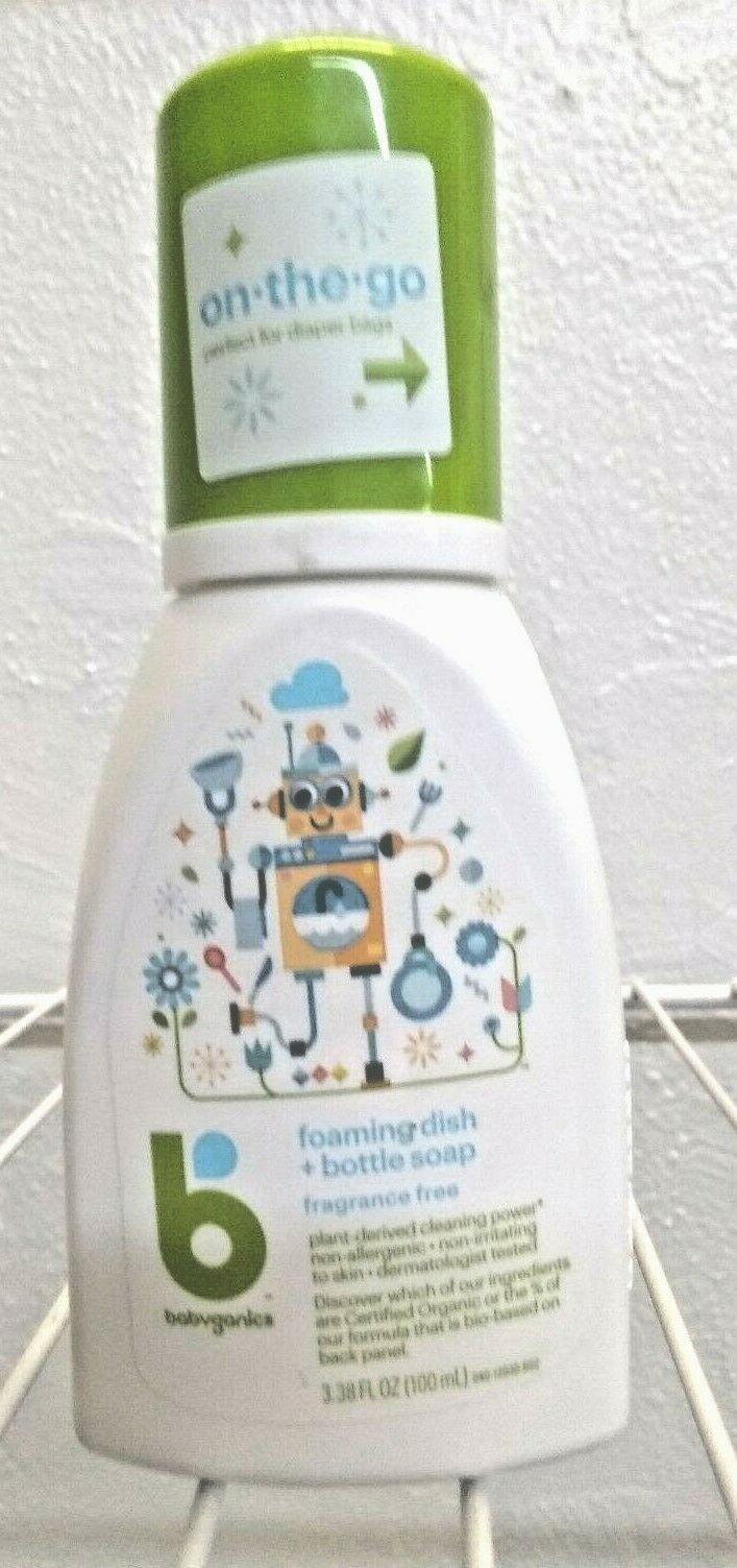 Babyganics 3.38 oz. Fragrance-Free Foaming Dish and Bottle Soap