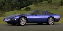 1991 Corvette purple profile 24 X 36 INCH POSTER, classic - $21.77