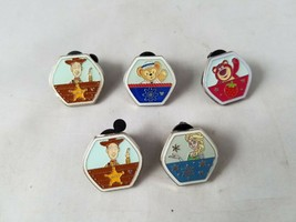 Disney Trading Pins Official Hexagonal Characters Portrait Theme Set of 5 - $10.27