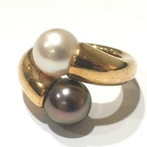 AUTHENTIC CARTIER Perla Toi et Moi Ring Pearl K18YG Yellow Gold Size51 - $1,600.00