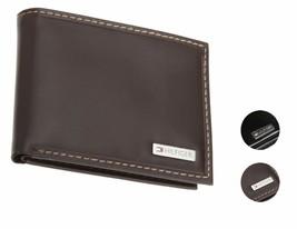 Tommy Hilfiger Men's Premium Leather Passcase Billfold Wallet 31Tl22X053