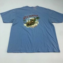 Tommy Bahama Idle Worship T Shirt Men's XL Short Sleeve Blue Crew Neck Relax Fit - $17.99