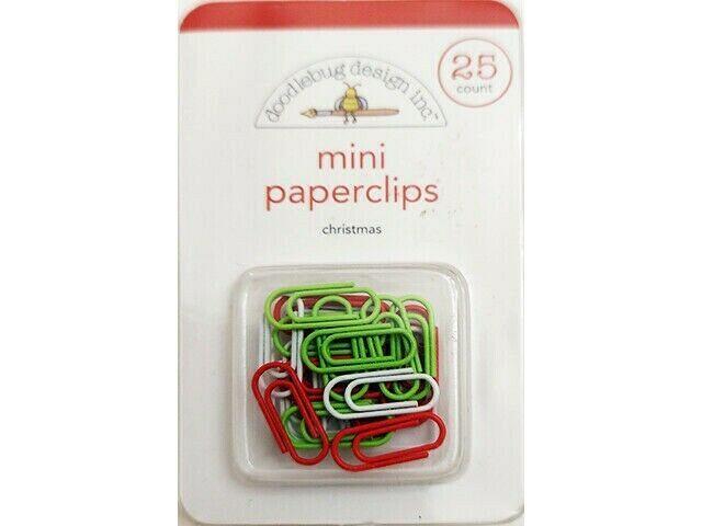 Doodlebug Design Christmas Mini Paperclips, 25 Count