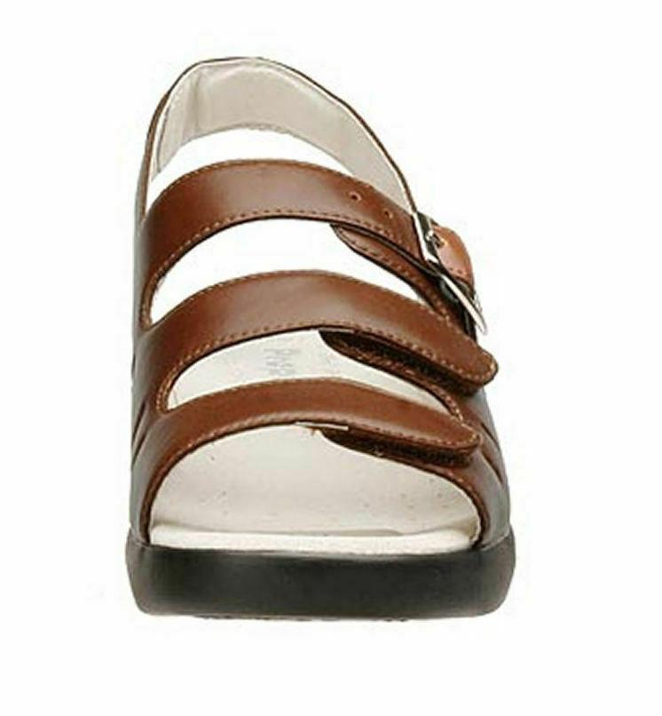 Womens Propet Breeze Walker Sandals - Teak Brown Size 7.5 [W0001]