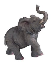StealStreet SS-G-54135 Small Polyresin Elephant with Trunk Up Figurine Statue, 6 - $9.75