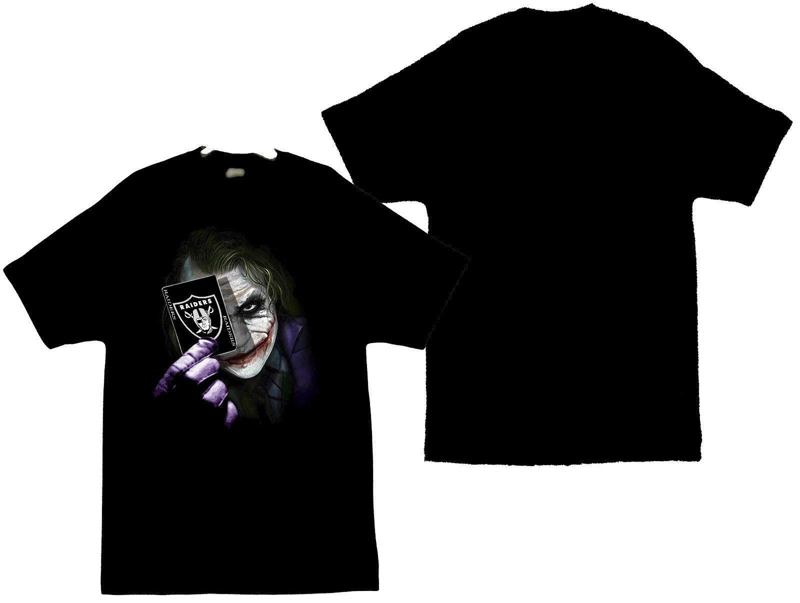 Primary image for The Joker With Card and The Raiders Image From Dark Knight Men's T-Shirt